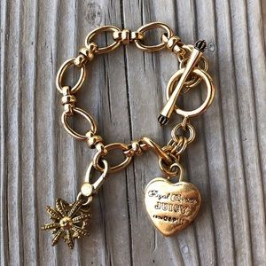 Juicy Couture Retired Crown Charm & Charm Bracelet
